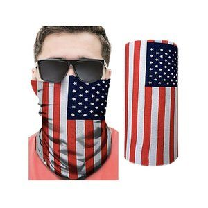 10 Pack Awesome Value. American Flag Neck Gaiter.